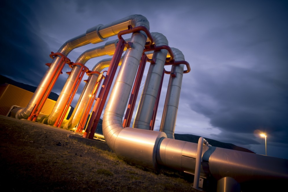 Una pipeline per il trasporto del petrolio in Medio Oriente