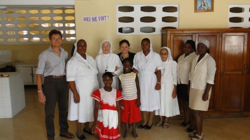 I volontari friulani durante una recente visita ad Haiti