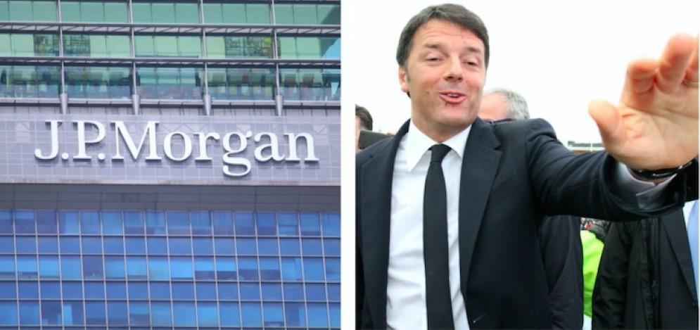 Jp Morgan e il premier Matteo Renzi