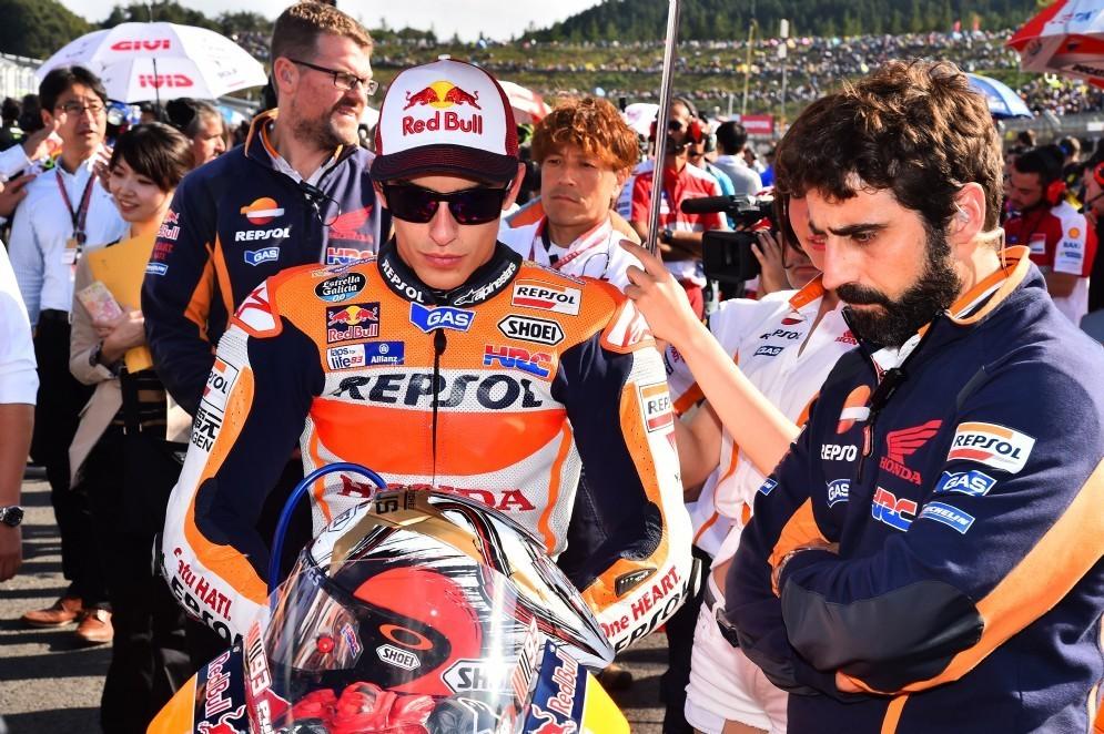 Marc Marquez sulla griglia di partenza di Motegi (© Michelin)