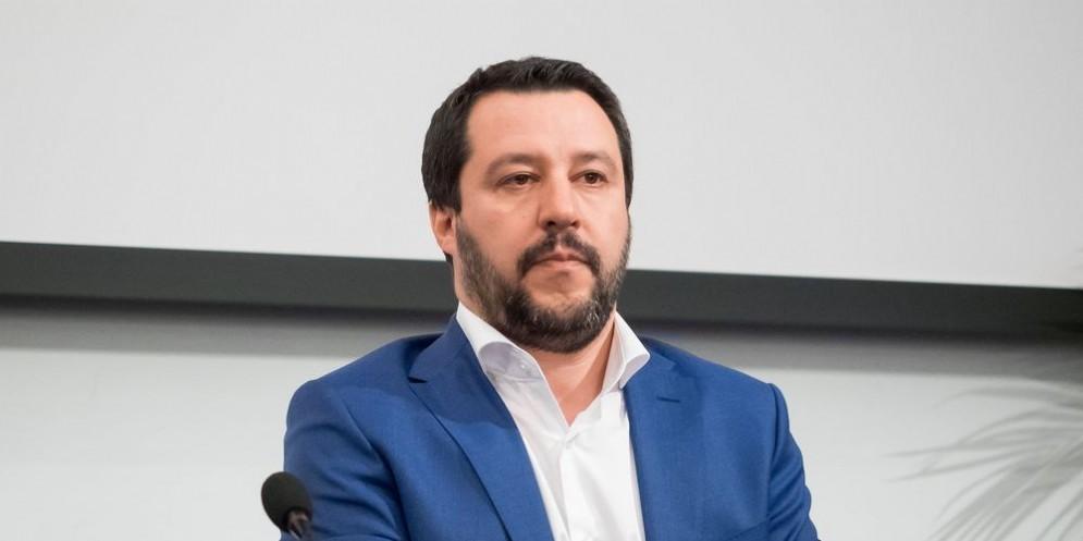 Il leader della Lega Nord, Matteo Salvini.