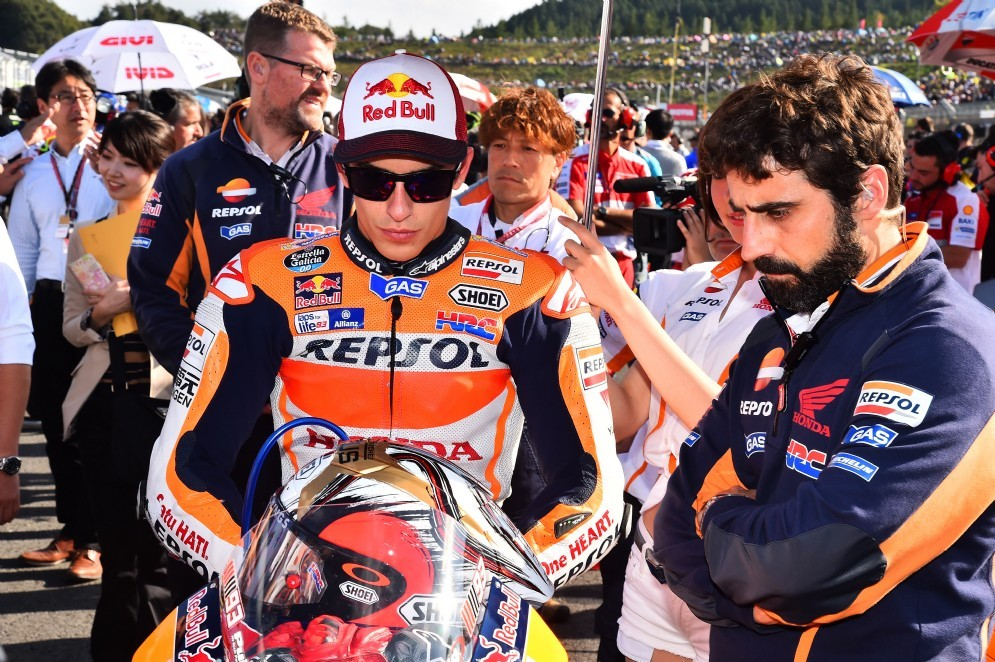 Marquez sulla griglia di partenza del GP del Giappone