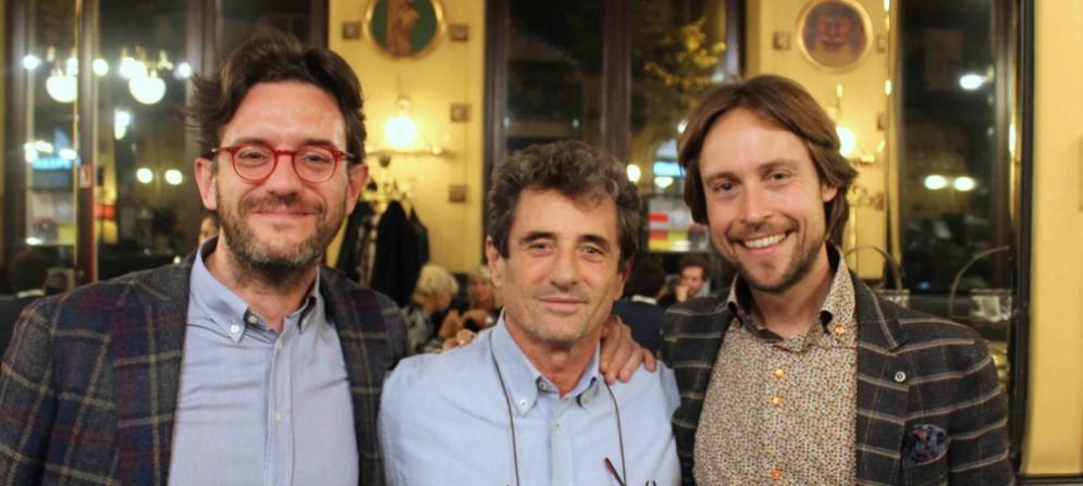 Alexandros Delithanassis, Bernardo Iovene e Andrej godina al Caffè San Marco