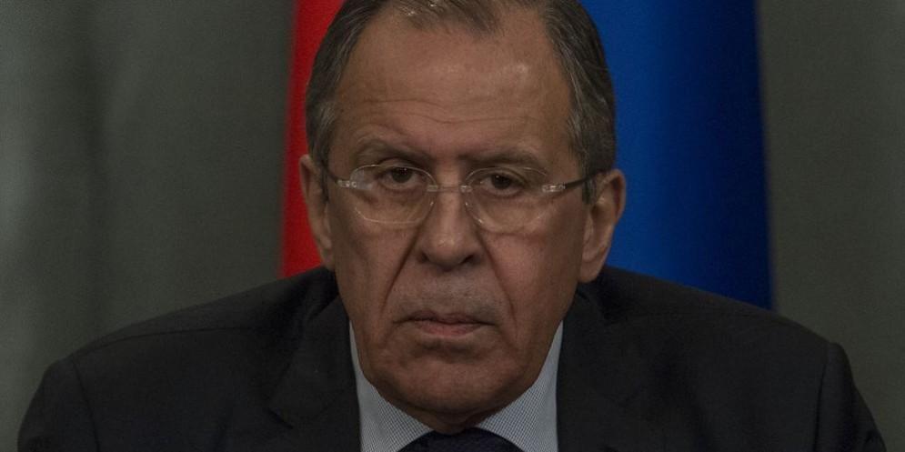 Il ministro degli Esteri russo Sergey Lavrov.