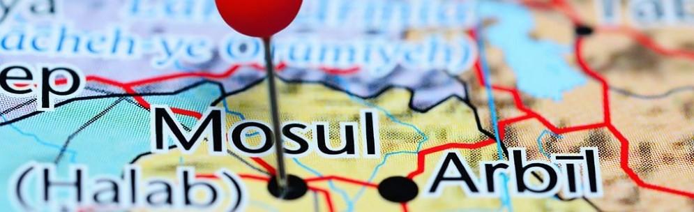 Mosul sulla cartina geografica.