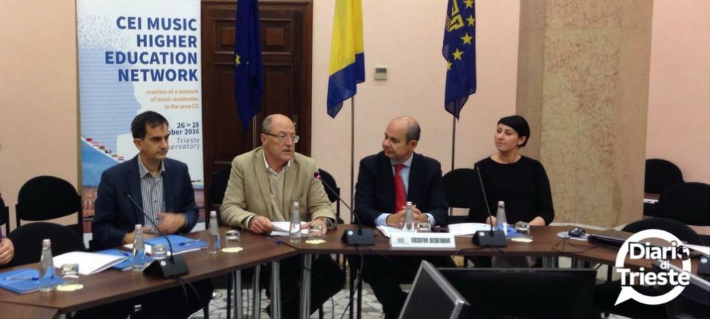 Cei Project Manager Ugo Poli e ilPresidente del Tartini Lorenzo Capaldo