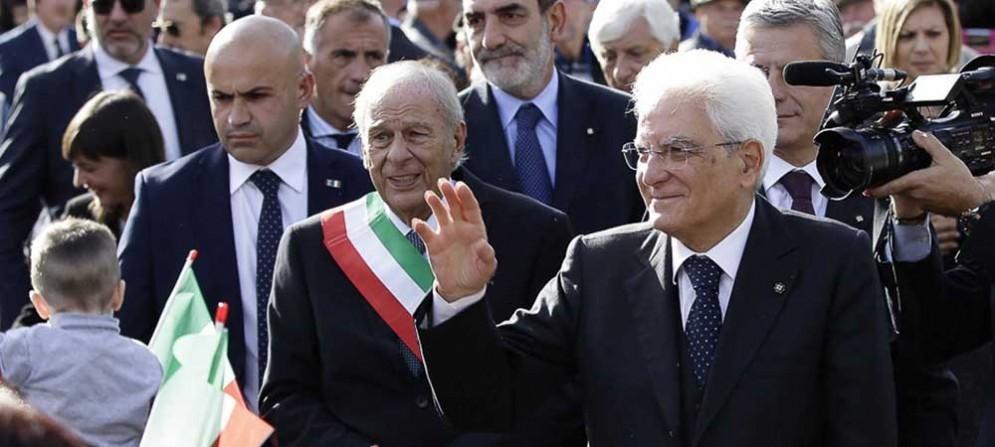 Ettore Romoli (Sindaco Gorizia) e Sergio Mattarella (Presidente Repubblica Italiana) - Gorizia 26 ottobre 2016