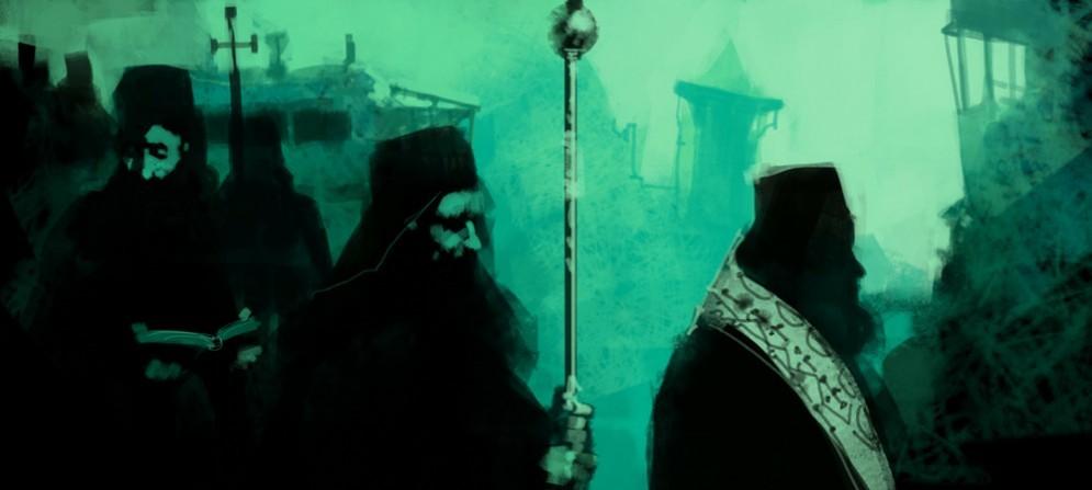 """Una scena della performance """"Athos"""""""