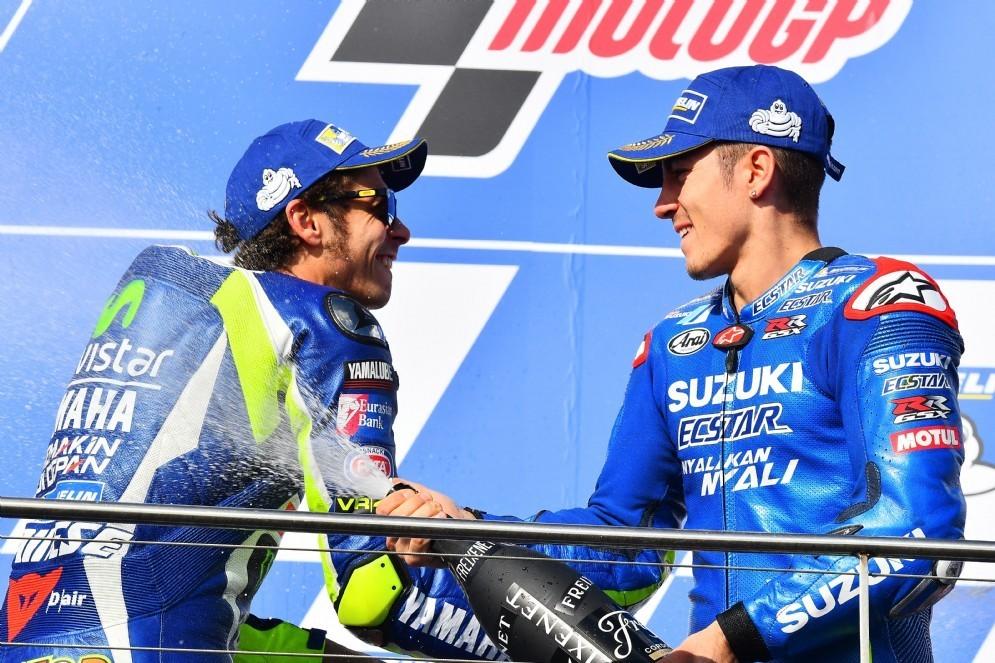Valentino Rossi e Maverick Vinales insieme sul podio