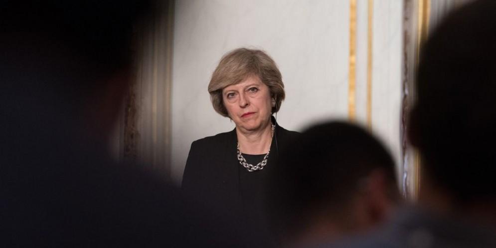 Il primo ministro britannico Theresa May.