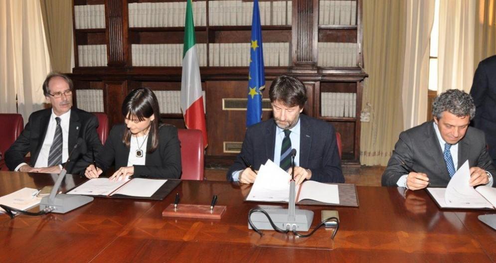 Torrenti insieme ai ministro Franceschini