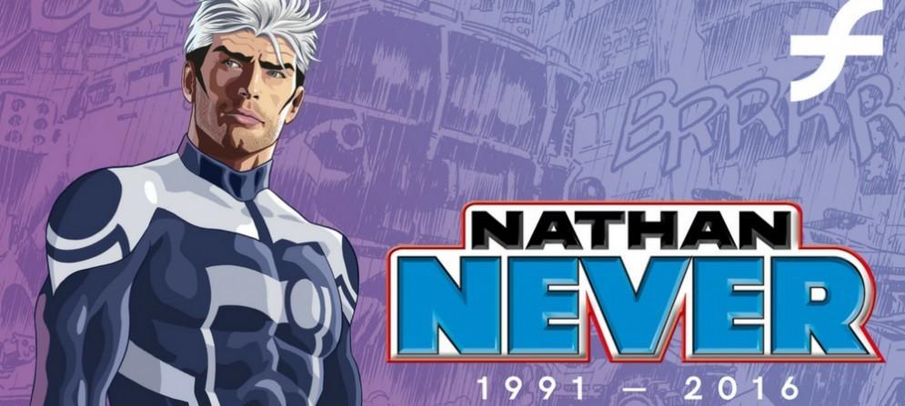 Locandina della mostra sui 25 anni di Nathan Never