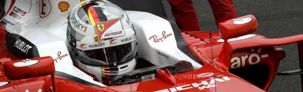 Sebastian Vettel nell'abitacolo della sua SF16-H