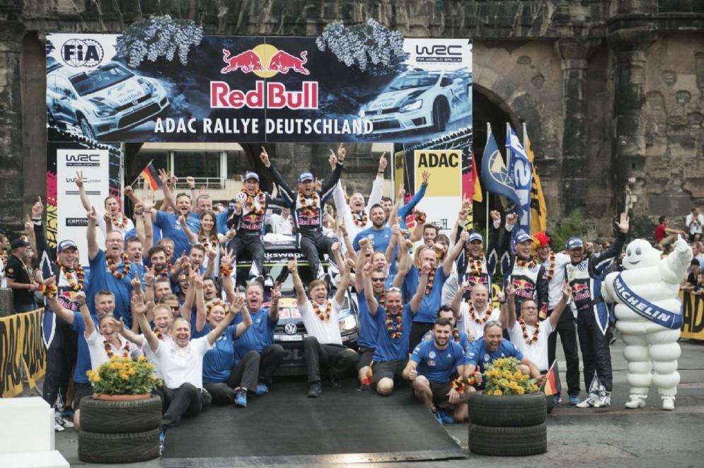 La tripletta Ogier-Latvala-Mikkelsen nel Rally di Germania 2015