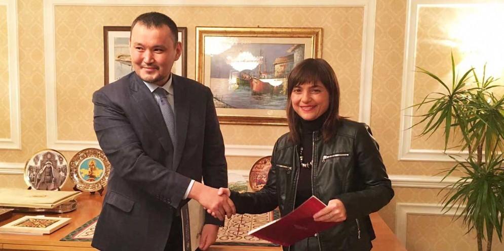 Serracchiani insieme a Talgat Narikbayev