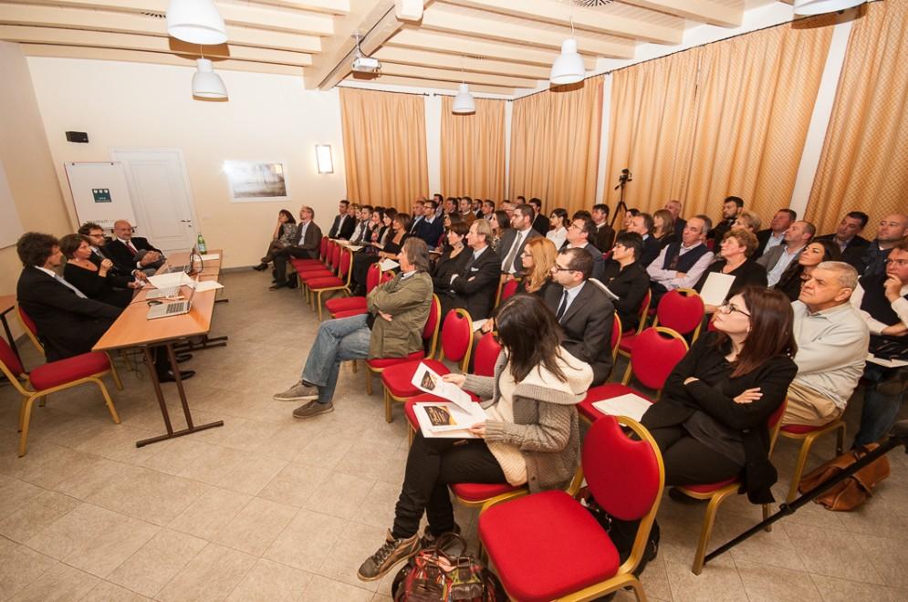 Un momento della conferenza dell'evento «COMUNICARE CON GUSTO»