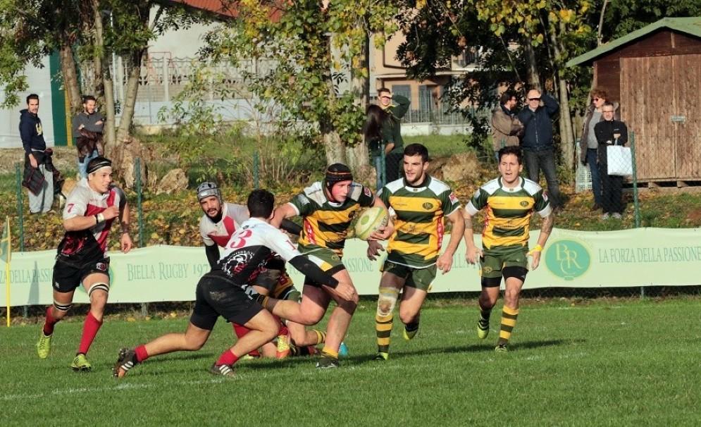 Biella Rugby – Monferrato 19-21 (7-6), un momento della partita di oggi