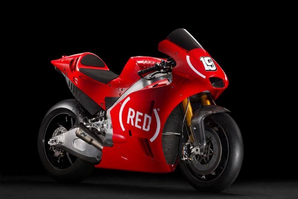 La Aprilia RS-GP con la livrea rossa di (Red)