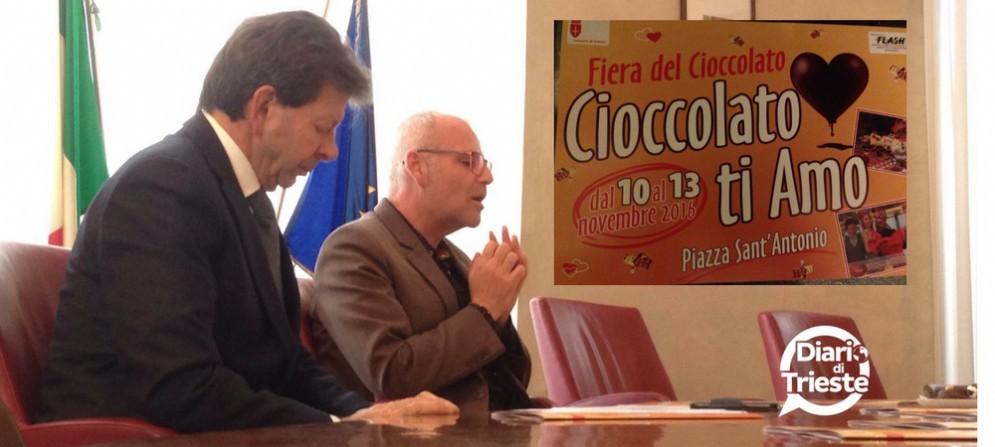 """Vincenzo Rovinelli e Lorenzo Giorgi alla presentazione di """"Cioccolato ti amo"""""""