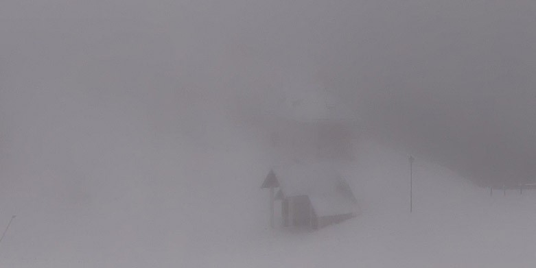 Il Monte Lussari coperto di neve