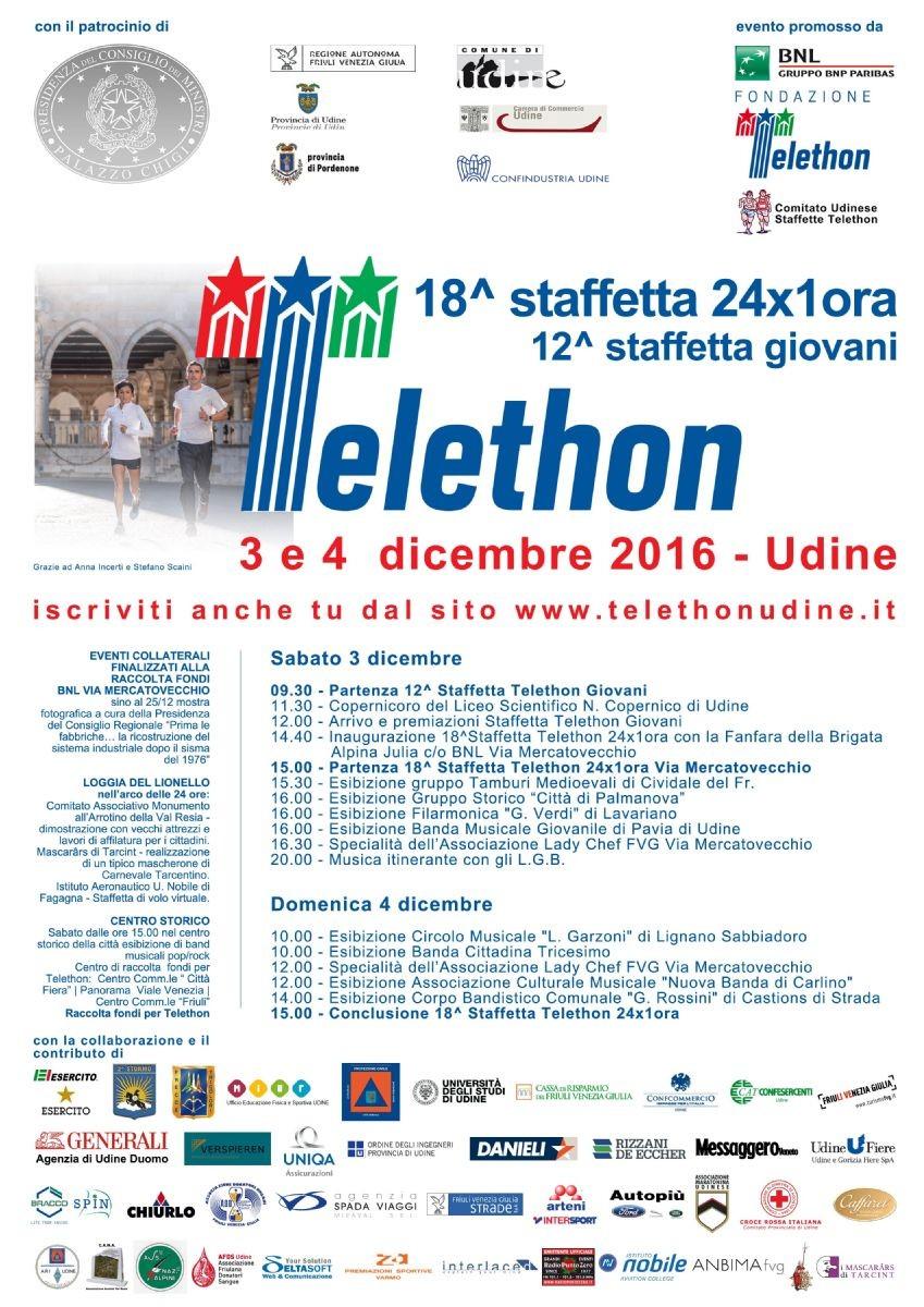 Thelethon: la locandina della due giorni del 2016
