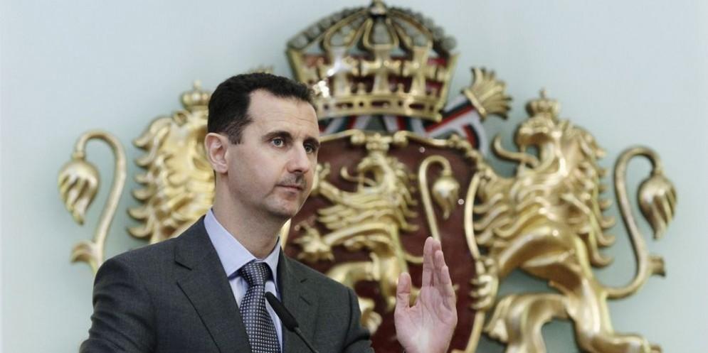 Il presidente siriano Bashar al Assad.