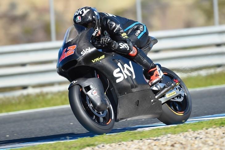 Pecco Bagnaia esordisce con il team Sky Vr46 in Moto2