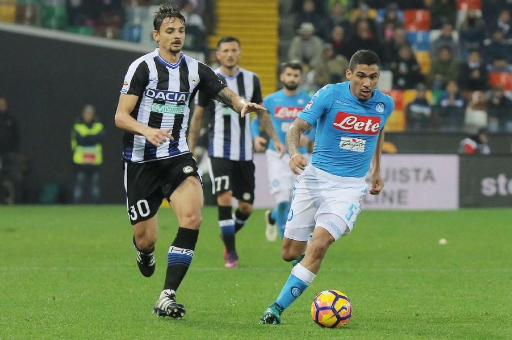 L'Udinese perde con il Napoli
