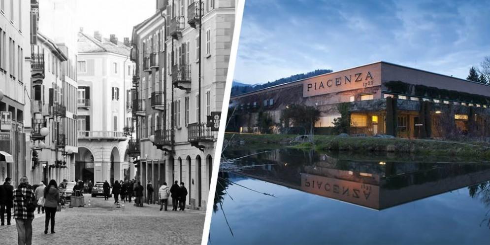 Via Italia e la storica azienda a Pollone
