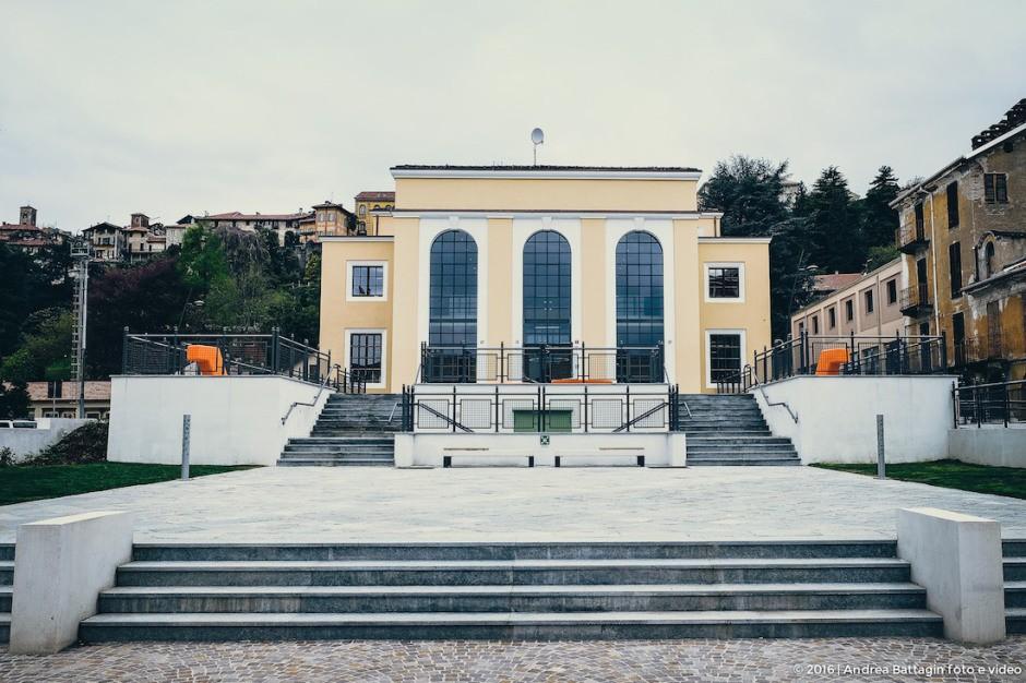 L'esterno della nuova biblioteca civica di Biella