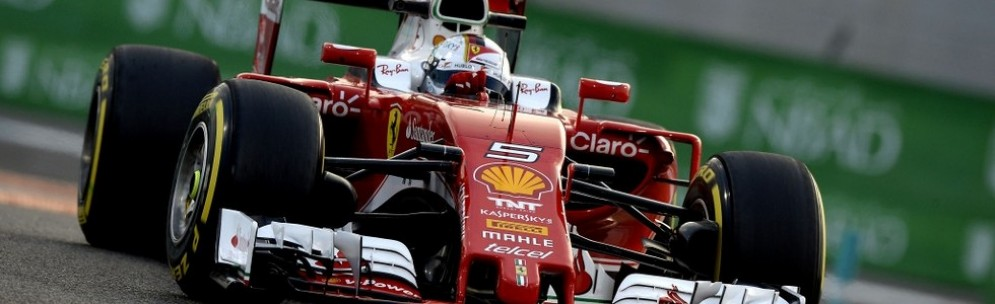 Sebastian Vettel in azione ad Abu Dhabi