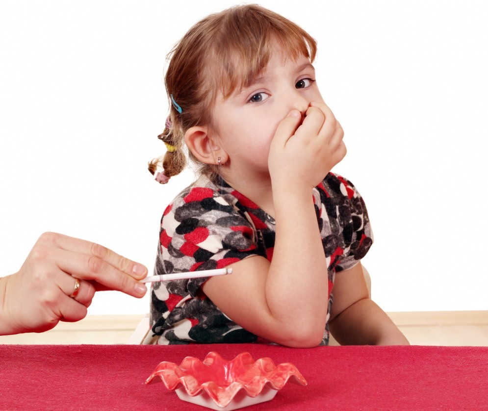 Il fumo passivo fa male ai bambin