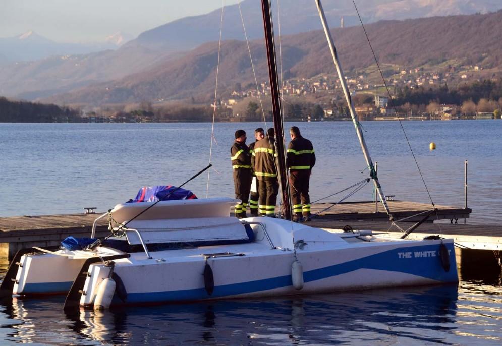 Un momento dell'intervento a lago