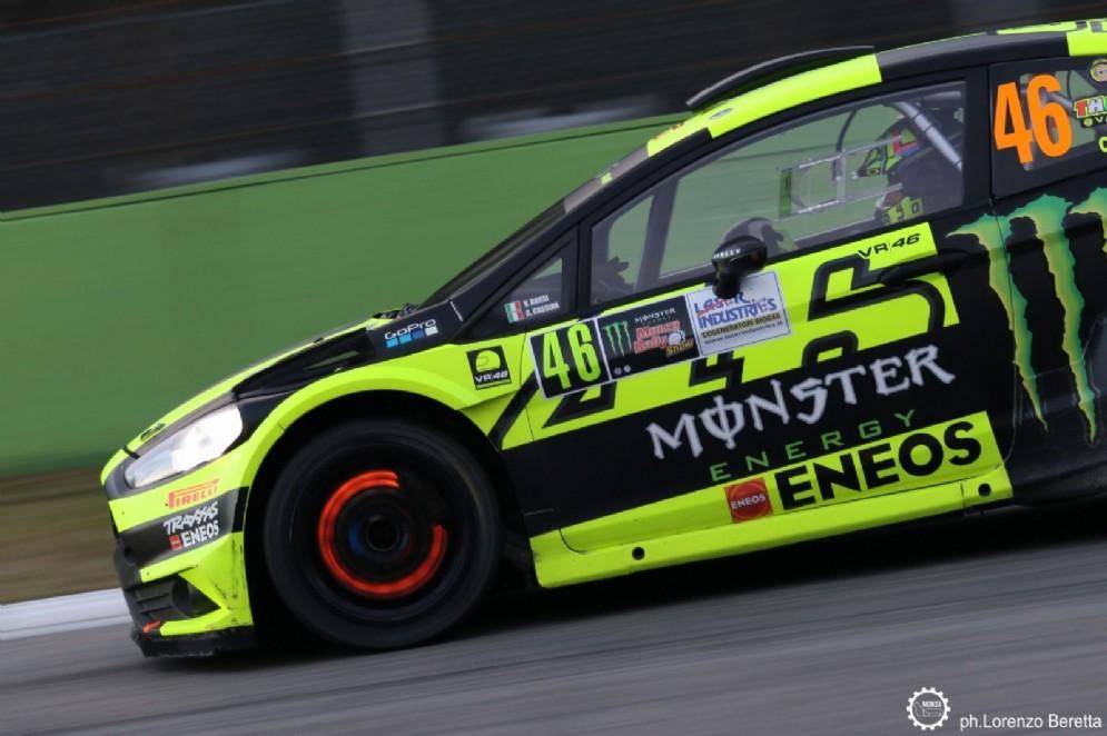 Valentino Rossi nelle prove del Monza Rally Show