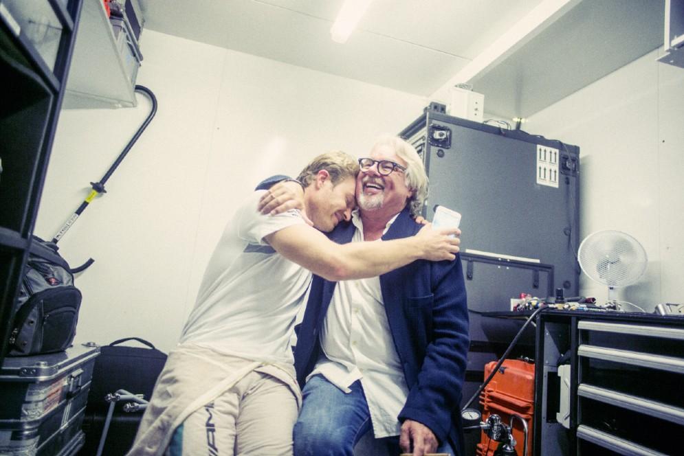 Con papà Keke Rosberg