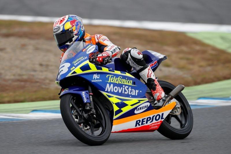 Pedrosa sulla Rs125R, la moto con cui vinse il titolo di classe 125 nel 2003