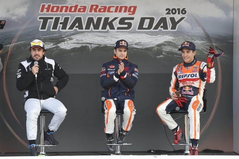 Il talk show con Alonso, Pedrosa e Marquez