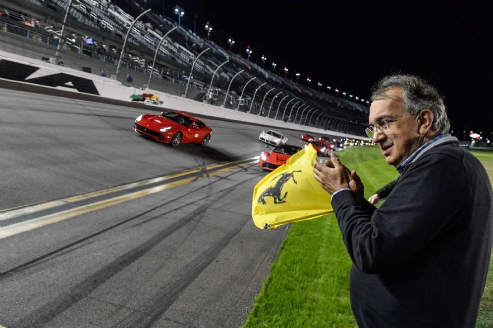 Il presidente Sergio Marchionne alle finali mondiali di Daytona