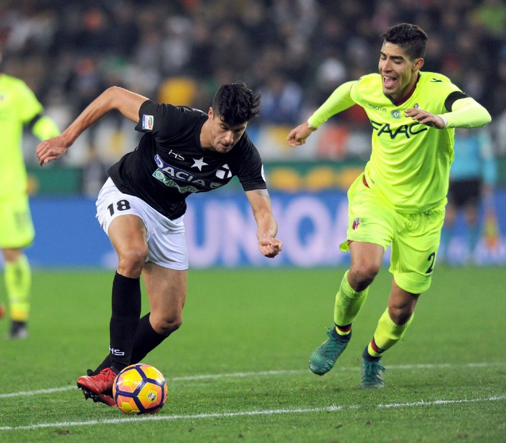 L'Udinese batte in extremis il Bologna