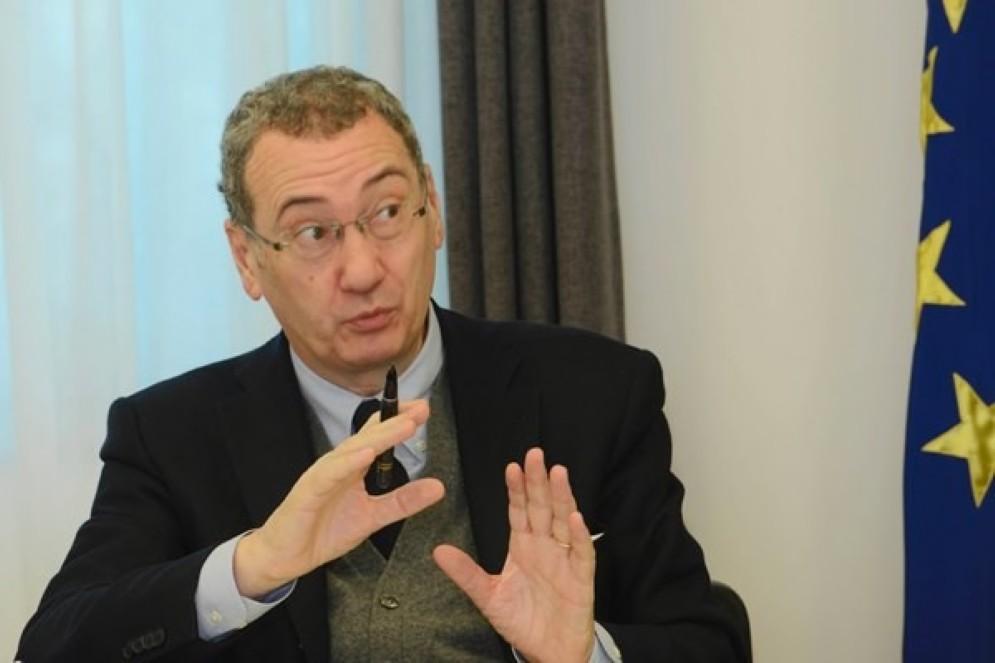 Sergio Bolzonello (Vicepresidente Regione FVG e assessore Attività produttive, Turismo e Cooperazione) durante la riunione della Giunta regionale