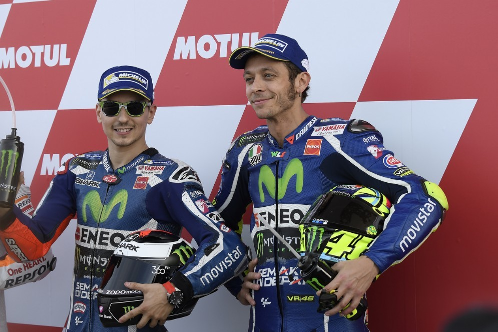 Jorge Lorenzo e Valentino Rossi