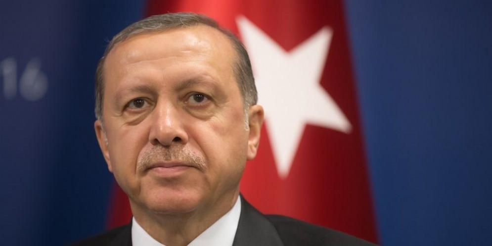 Il presidente turco Tayyp Recep Erdogan.