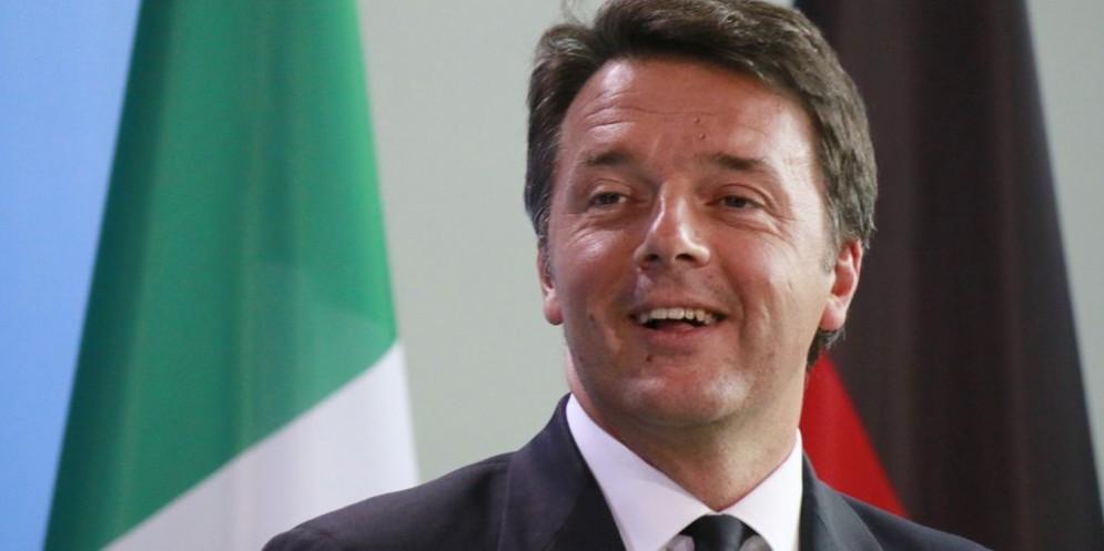 Il premier dimissionario Matteo Renzi.