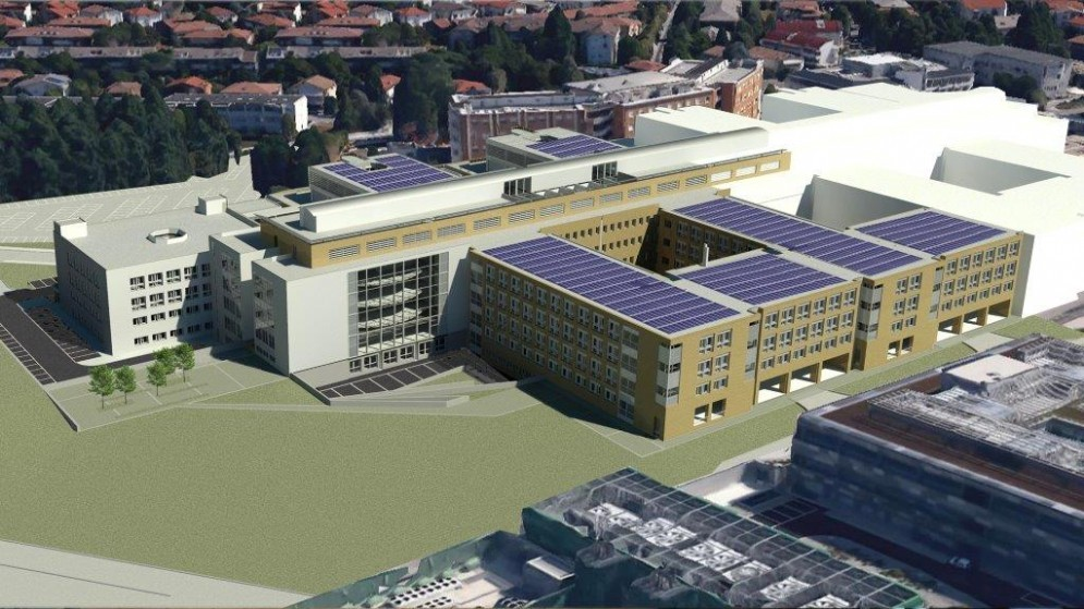 Ecco come sarà la nuova ala dell'ospedale (© Asui Ud)