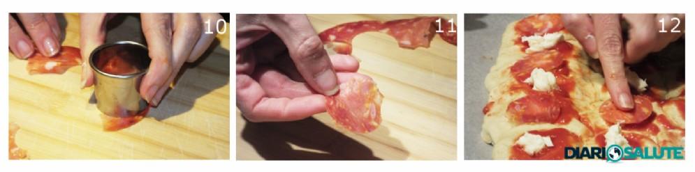 Aggiunta del salame piccante