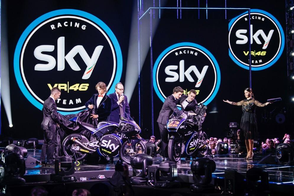 La presentazione delle nuove livree dello Sky Vr46