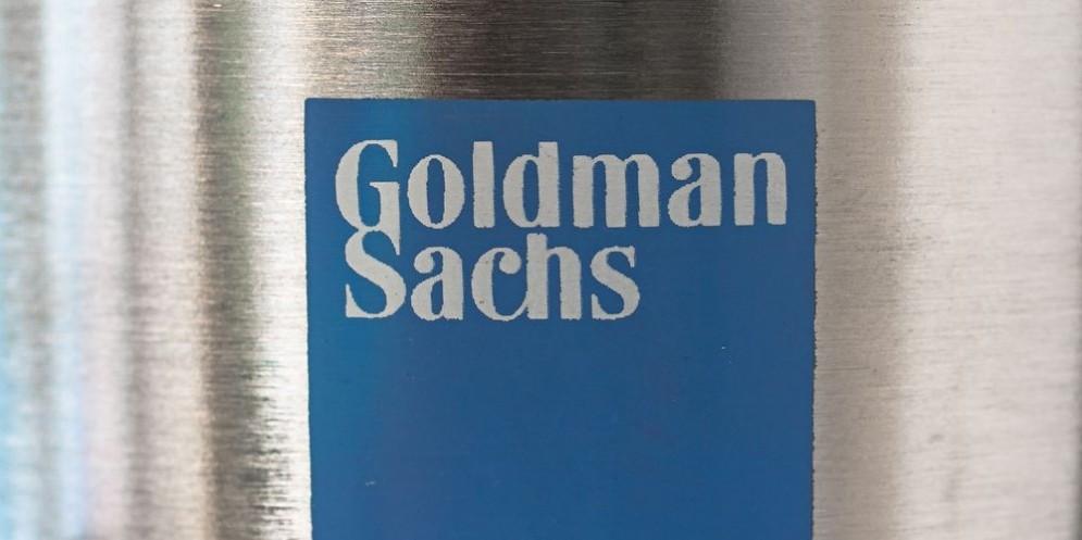 Il logo di Goldman Sachs.