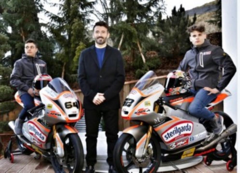 Max Biaggi presenta il suo Max Racing Team con i piloti Del Bianco e Baldini