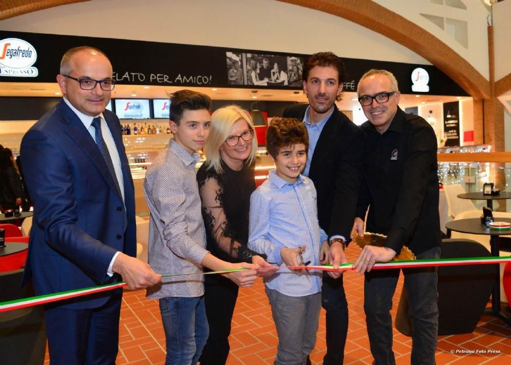 Fabian Cancellara in Friuli per l'apertura di un nuovo bar
