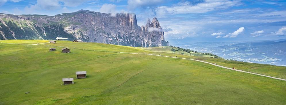 Una veduta dell'Alpe di Siusi